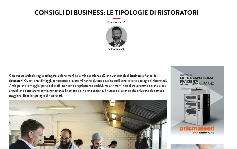 ristorazione italiana magazine tipologie ristoratori
