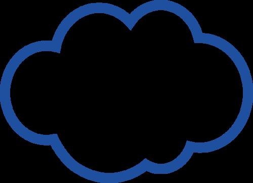 nuvola blu
